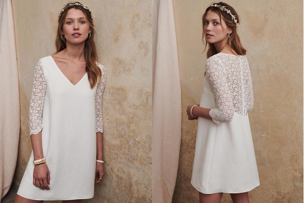 Sezane Axelle Dress 60s style French Brand