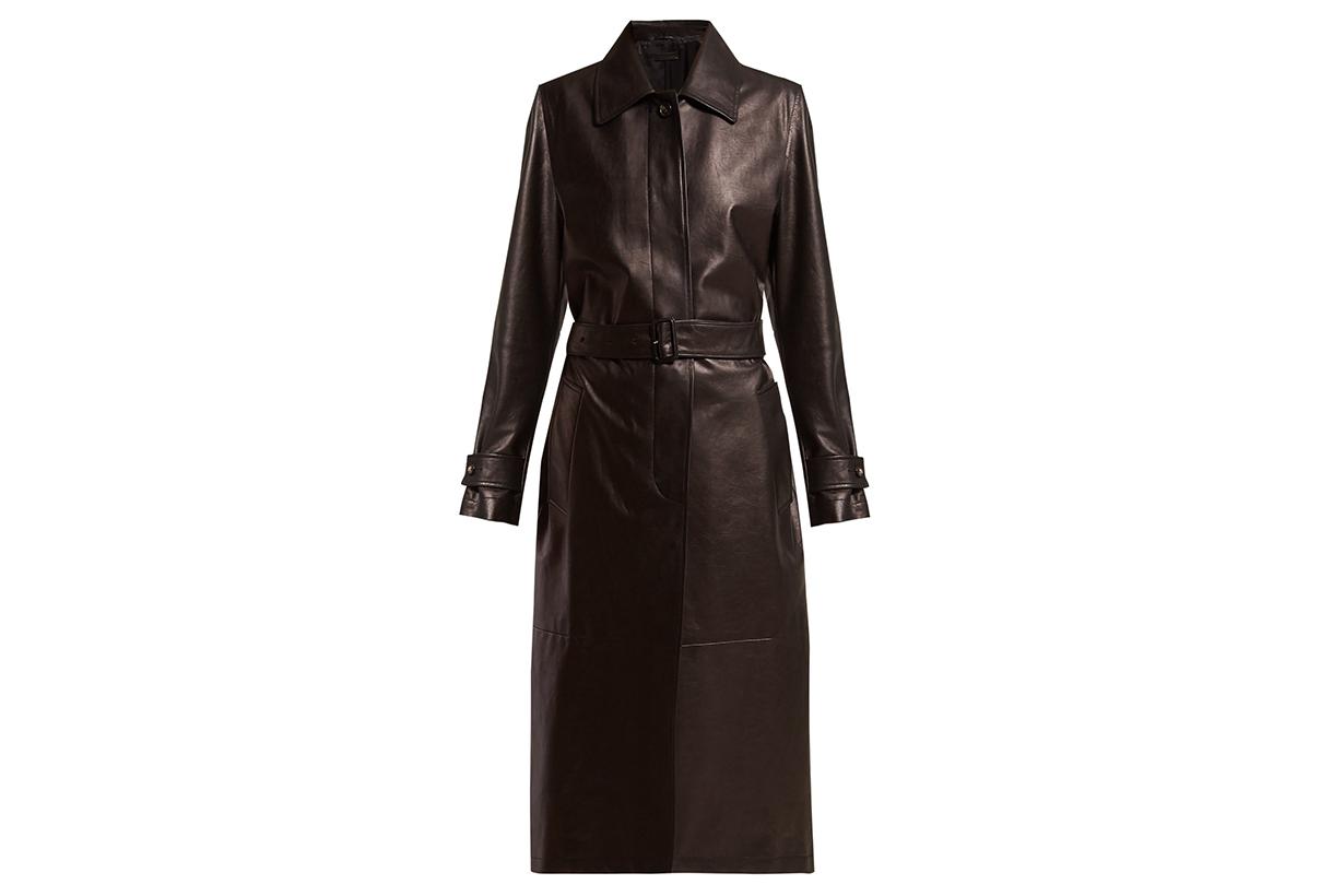 Bottega Veneta Single-breasted Leather Coat