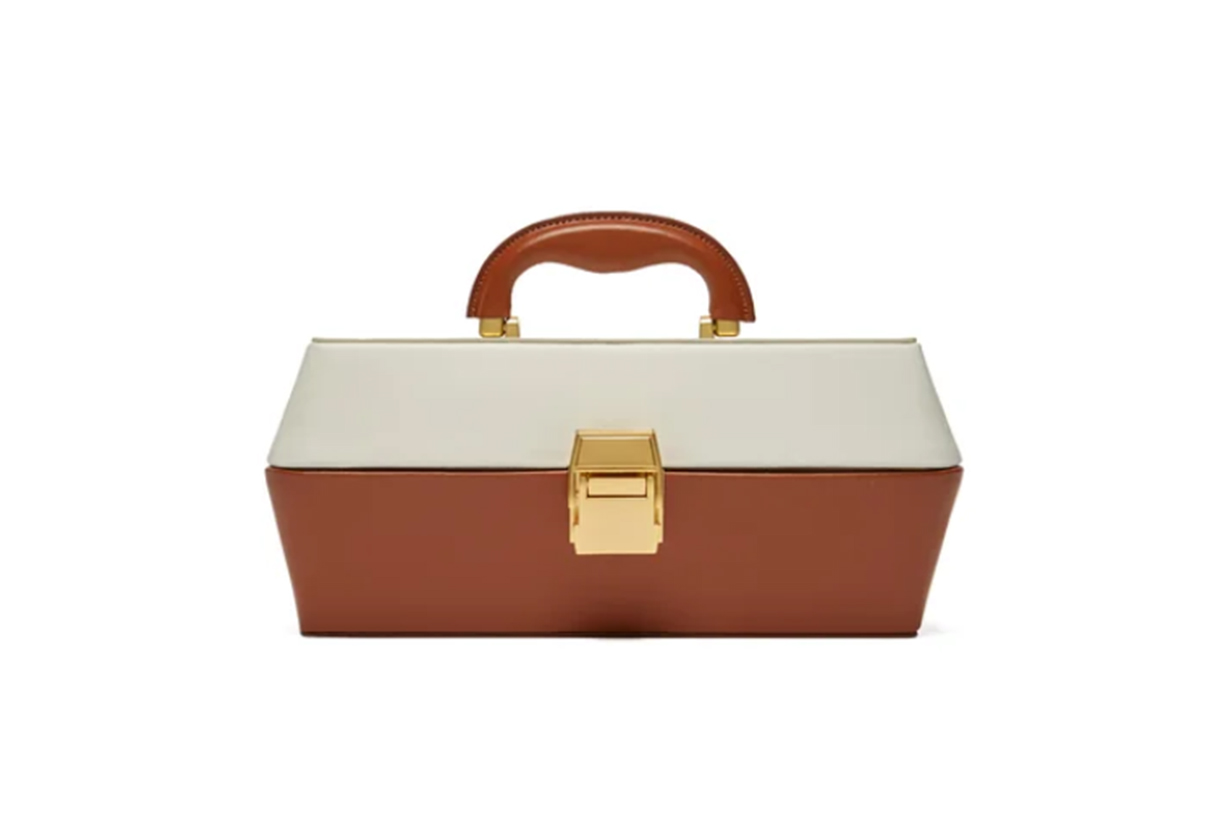 Staud Lincoln Leather Box Bag