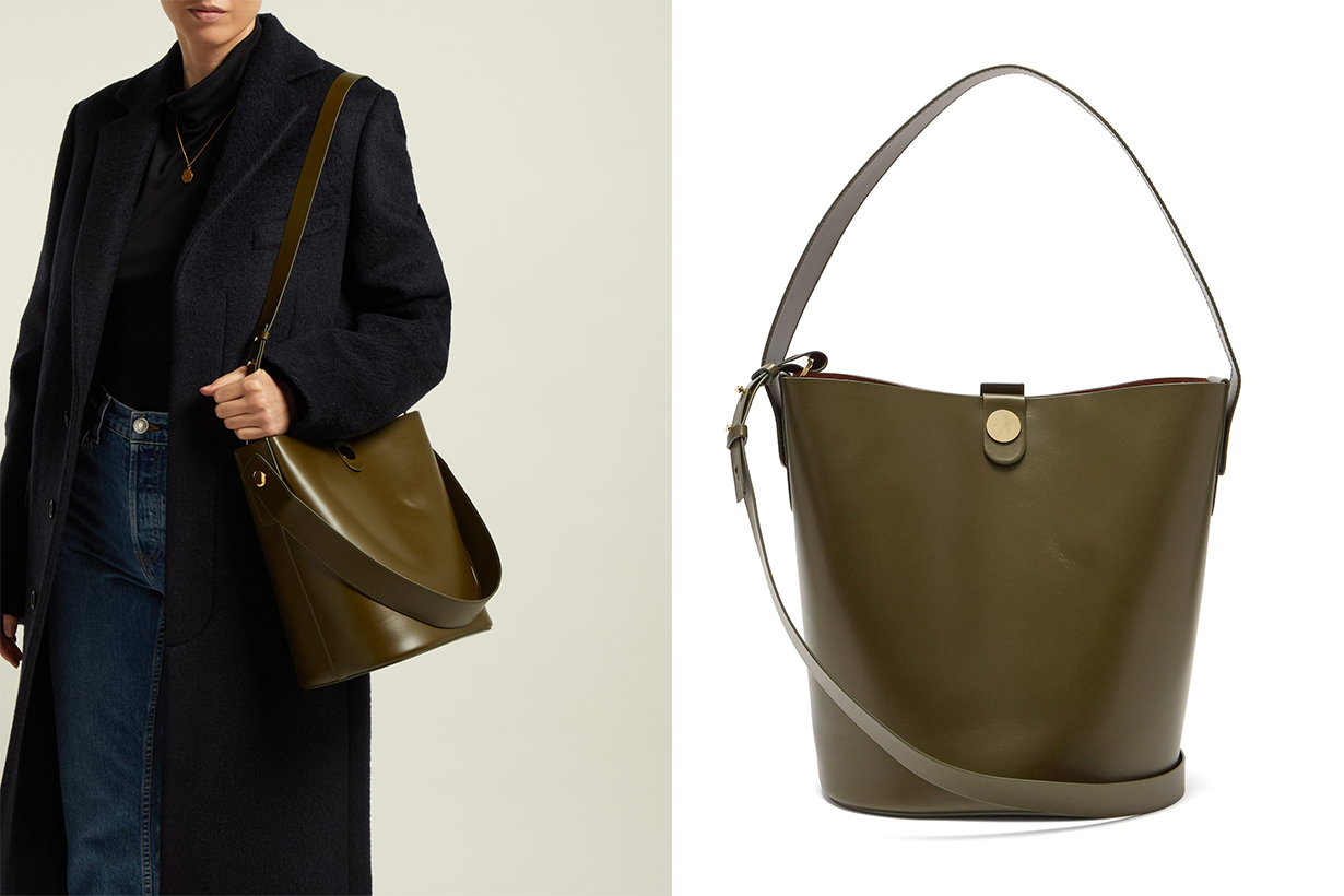 Sophie Hulme Swing Leather Bucket Bag