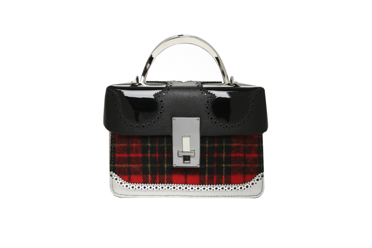 THE VOLON Data Alice Plaid Satchel