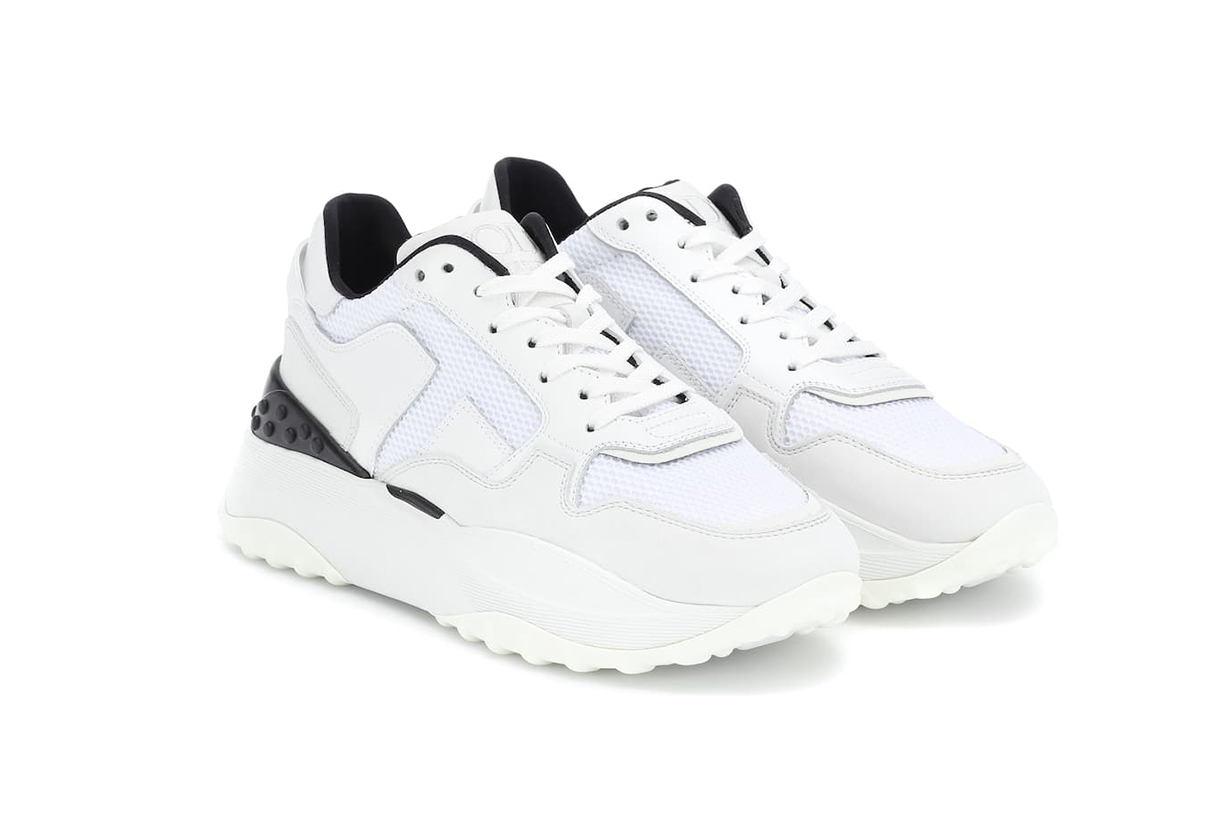 Tod's Leather and Nubuck Sneakers