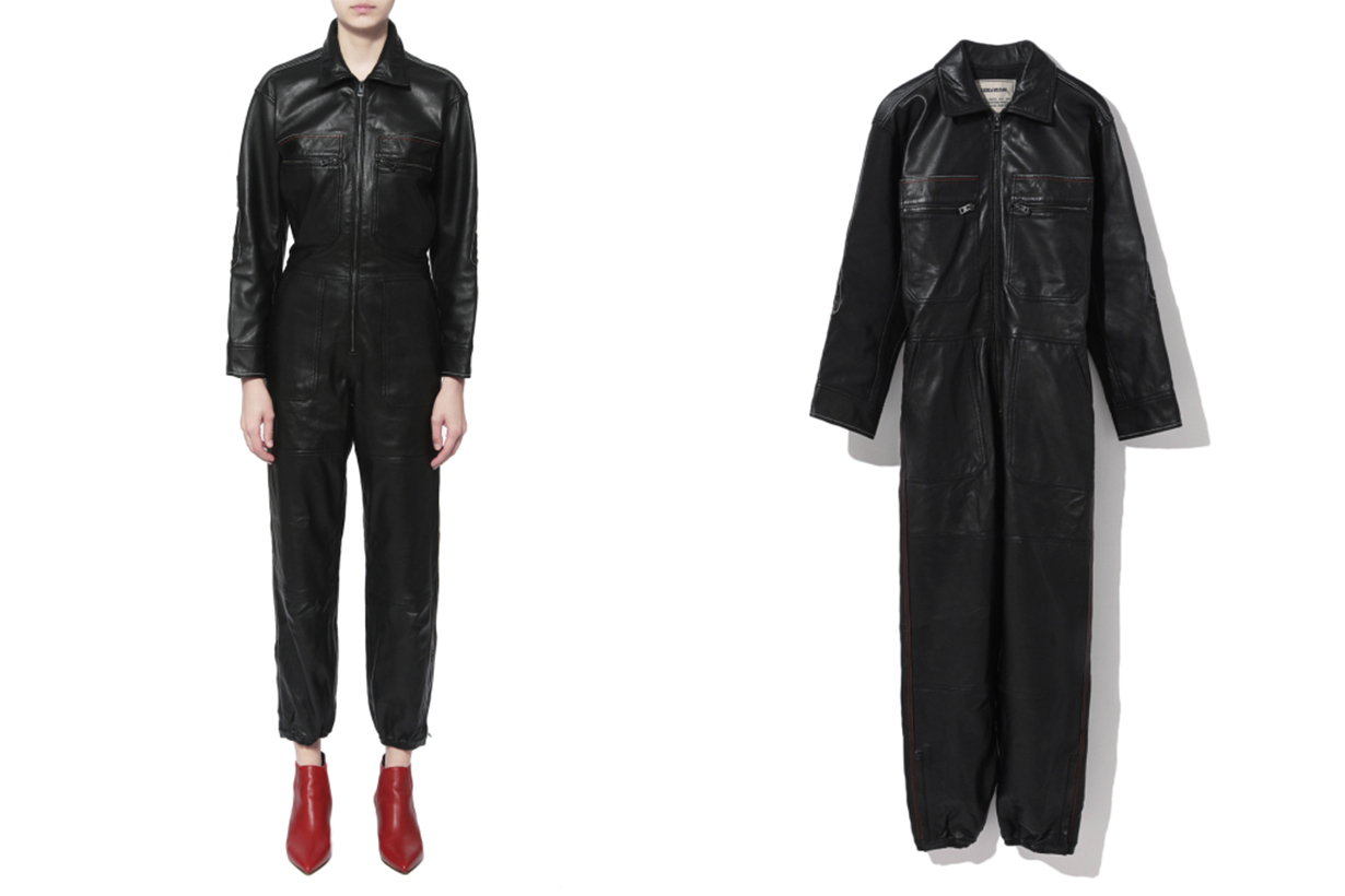 ZADIG & VOLTAIRE Leather Boiler Jumpsuit