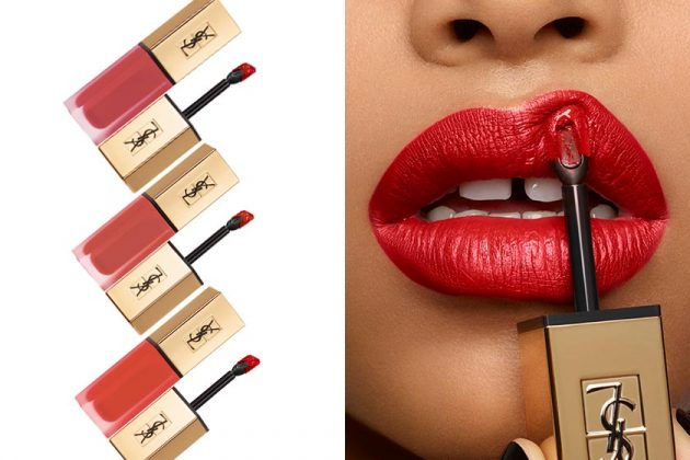 YSL Beauty New Red Lip Stick Color Tatouage Couture Rouge Volupté Shine