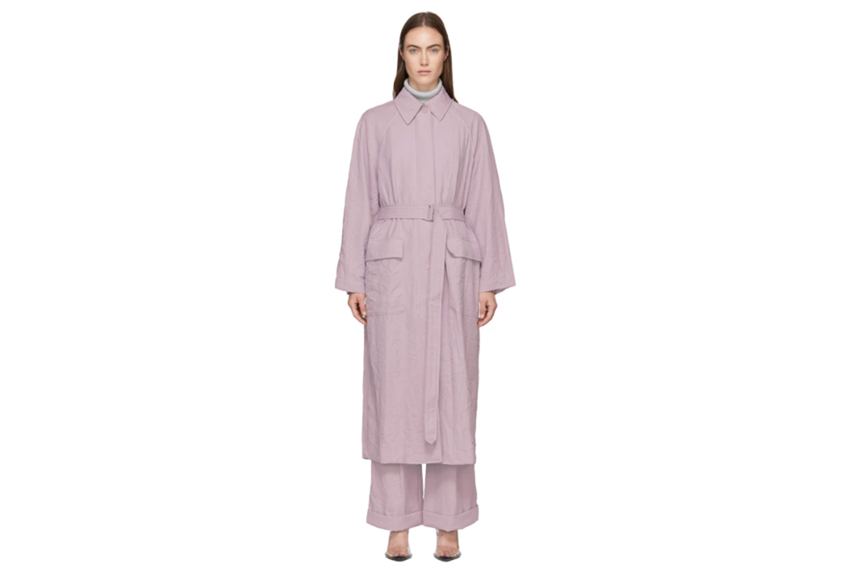 3.1 Phillip Lim Purple Oversized Trench Coat