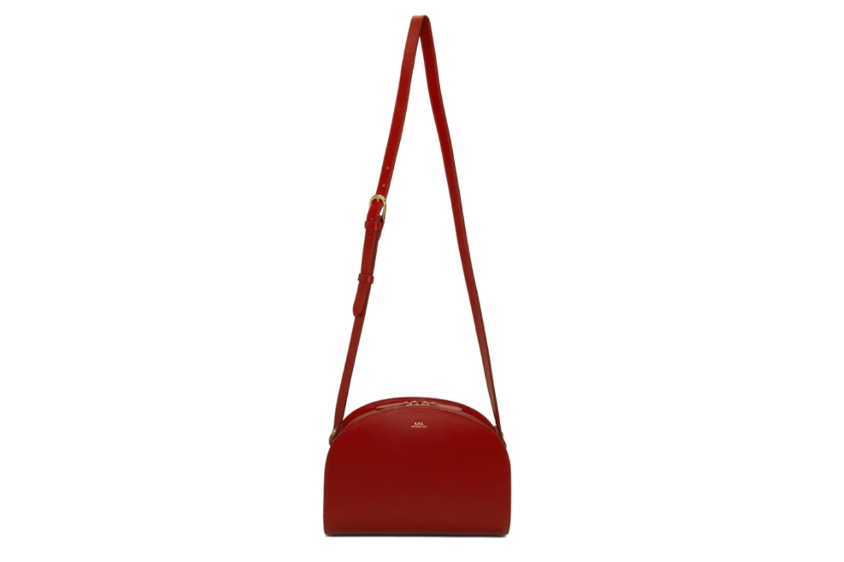 A.P.C. Red Half-Moon Bag