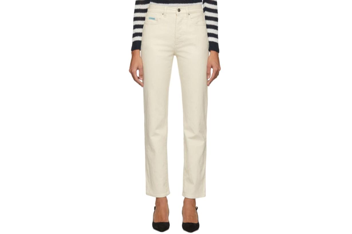 Alexachung Off-White Cigarette-Leg Jeans