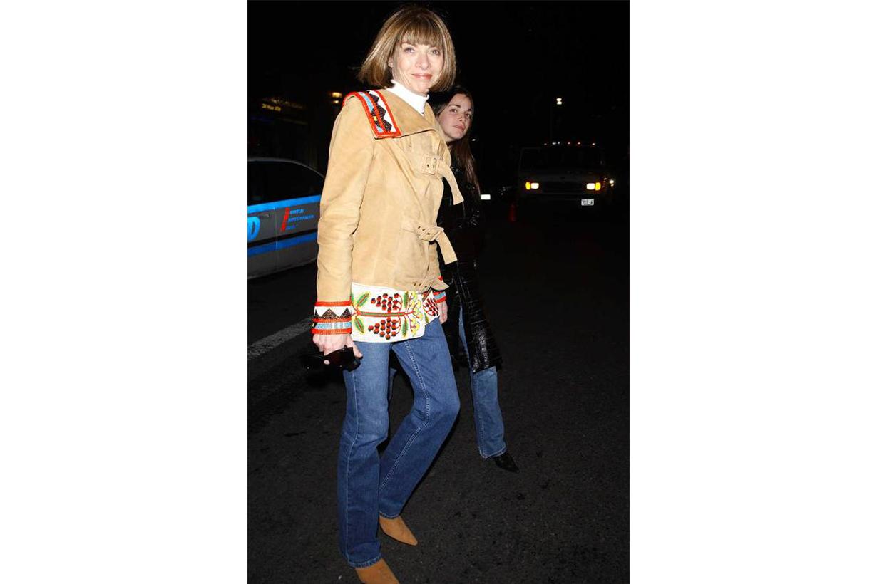 Anna Wintour Jeans Street Style
