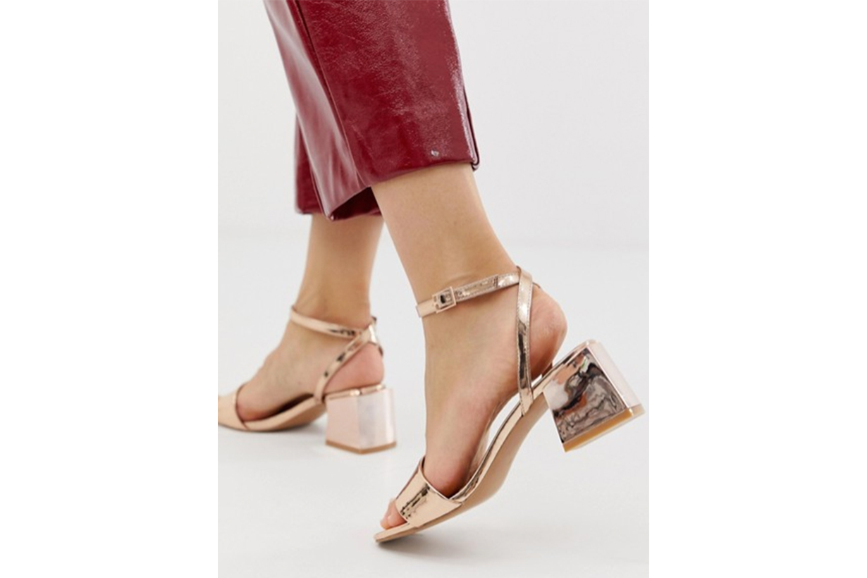 ASOS DESIGN Wide Fit Honeywell Block Heeled Sandals