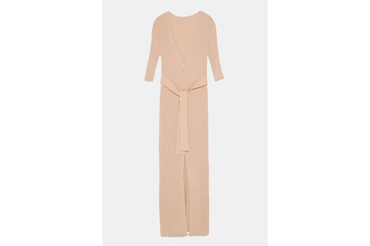 Zara Belted Knit Dress