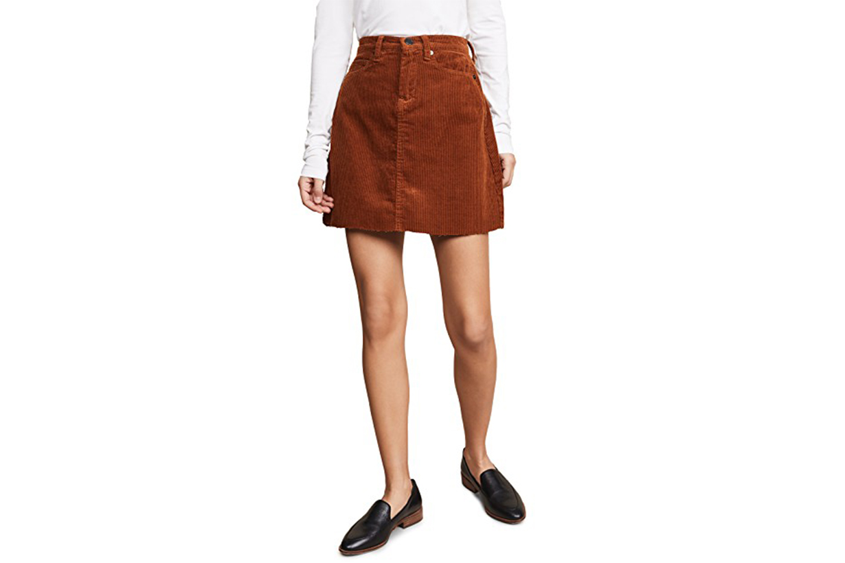 Blank Denim Corduroy Mini Skirt