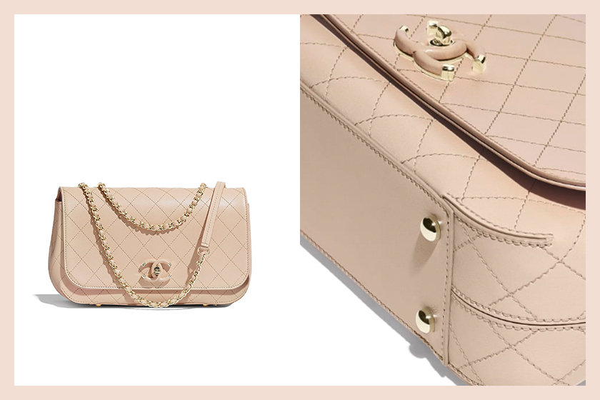 Chanel flap bag beige