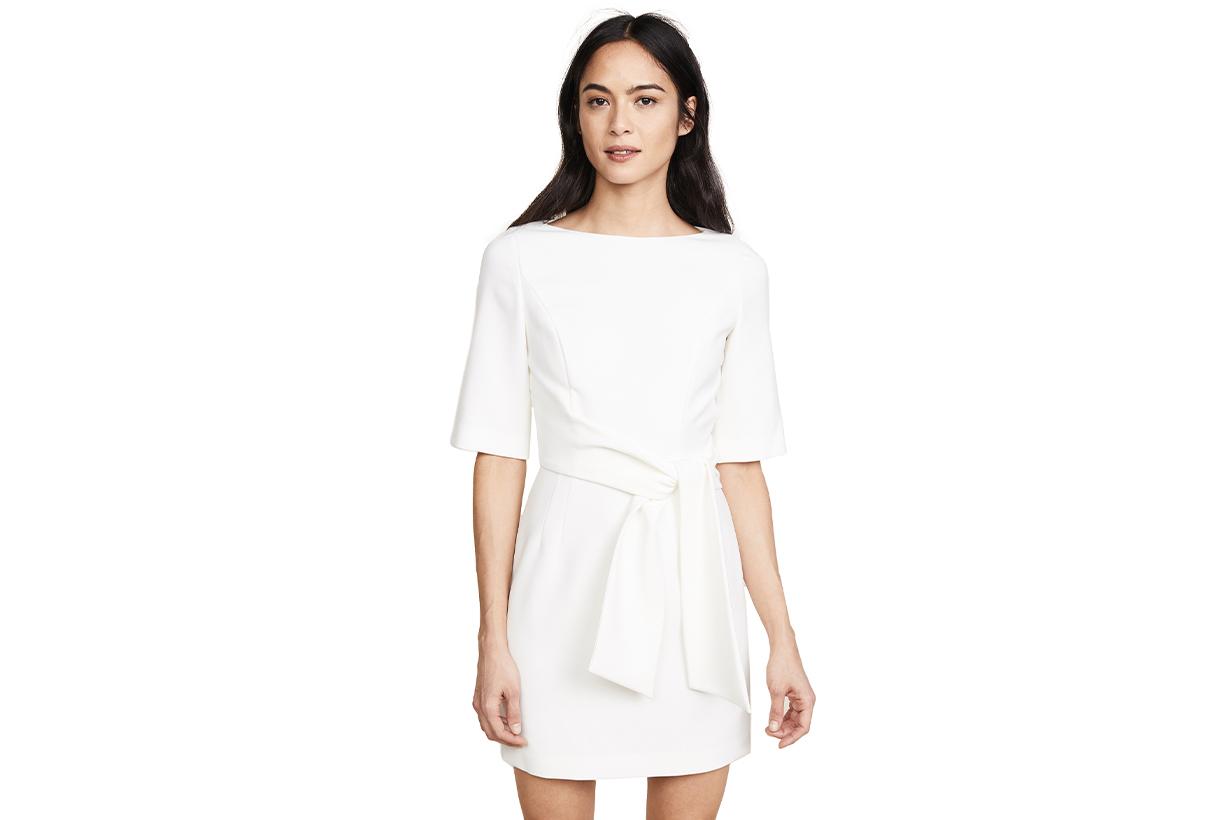 alice + olivia Virgil Boat Neck Wrap Dress