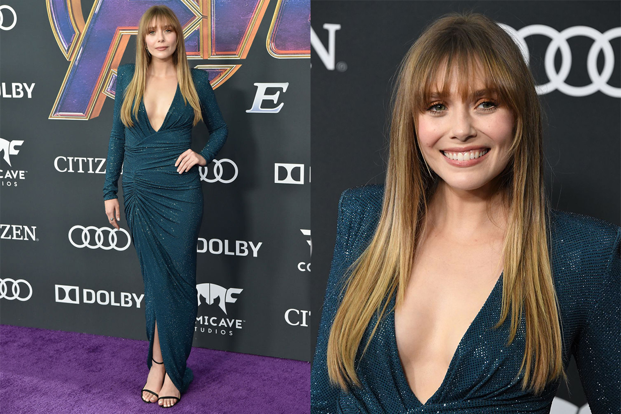 elizabeth olsen end game premiere
