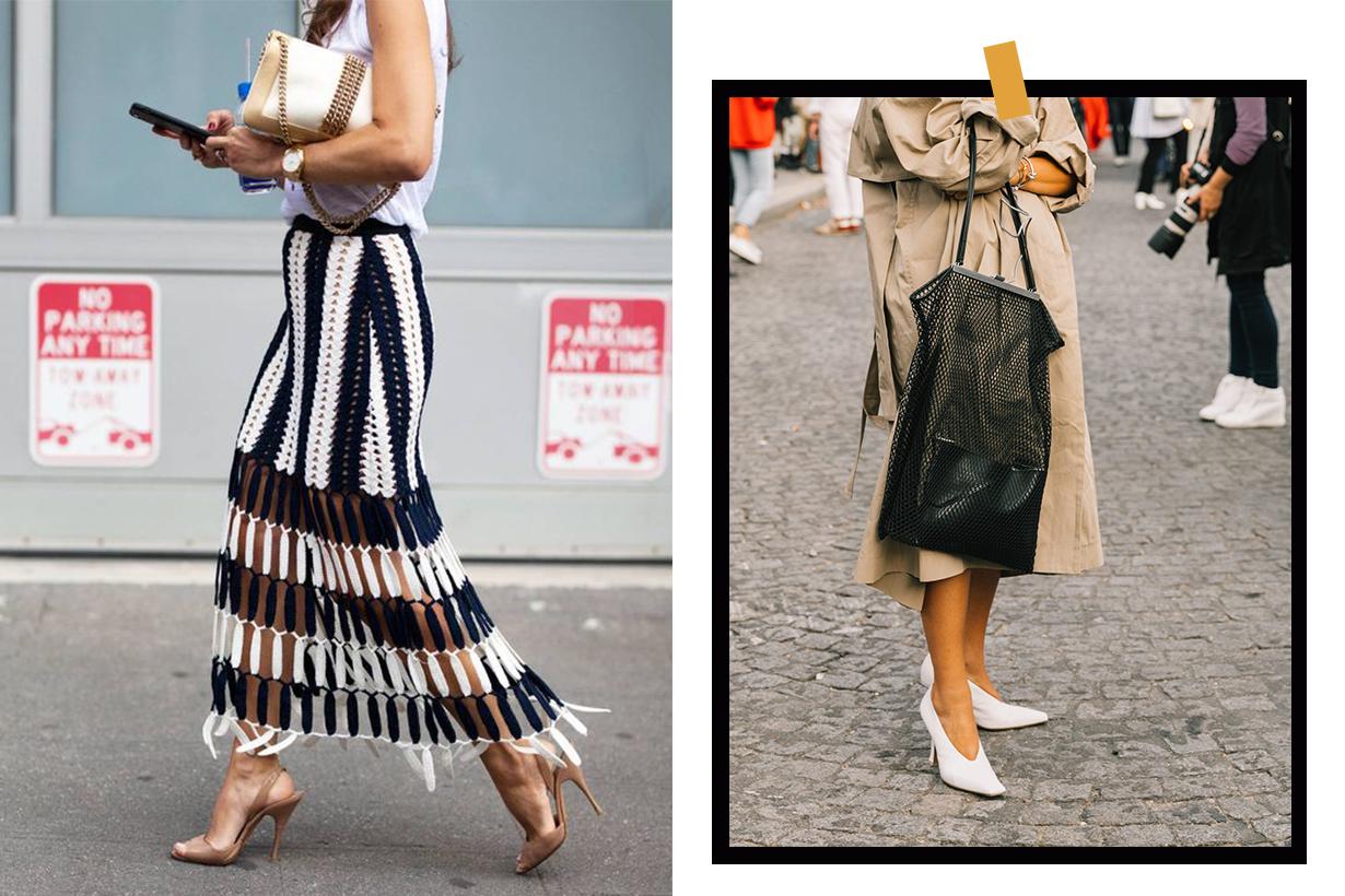 fishnets bag crochet dress street style