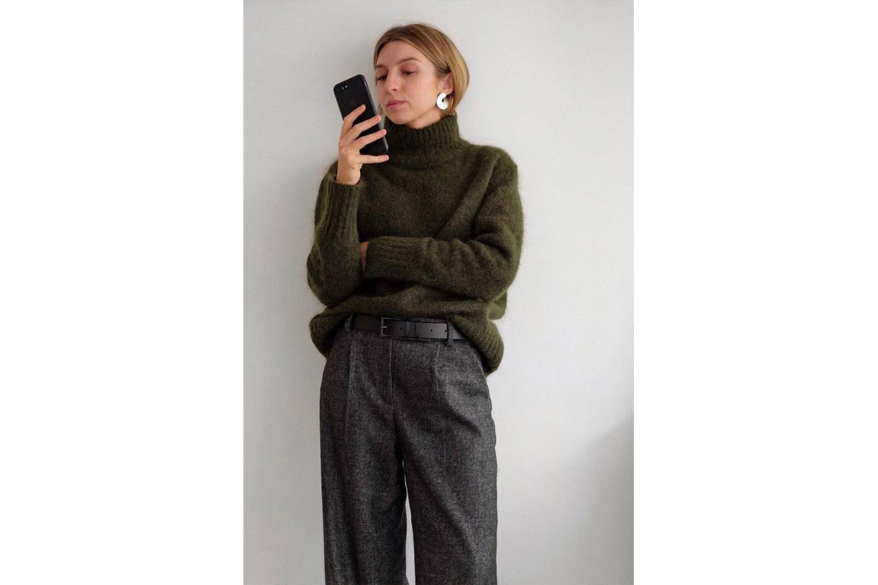 Sweater Tuck Belt Instagram Influencer