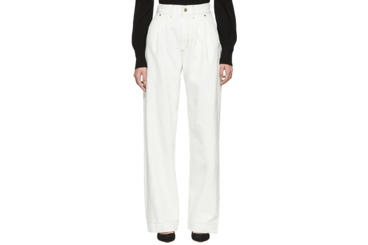 Goldsign White 'The Trouser' Jeans
