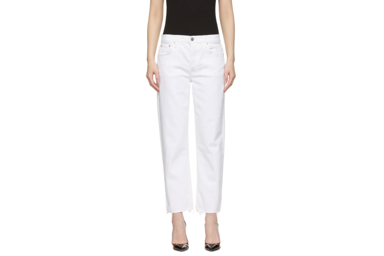 Grlfrnd White Helena Crop Jeans