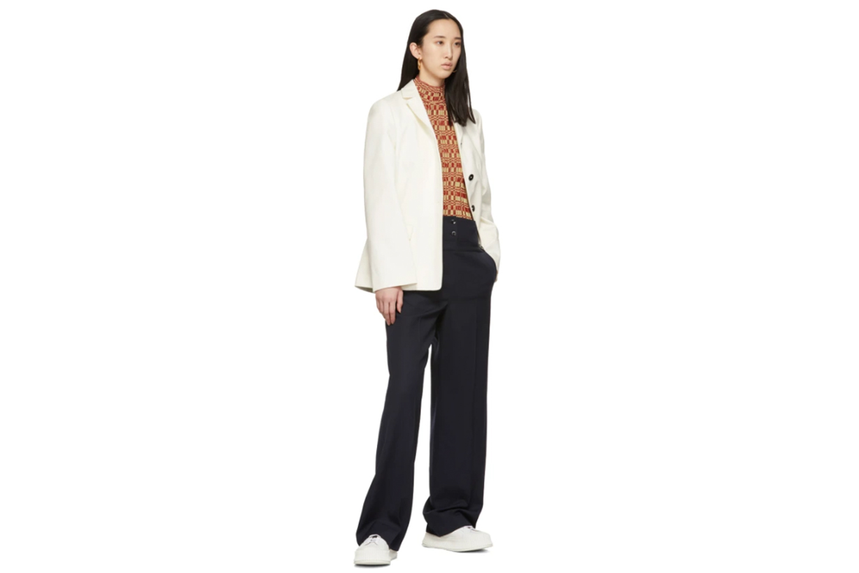Jil Sander Navy Double Waist Trousers