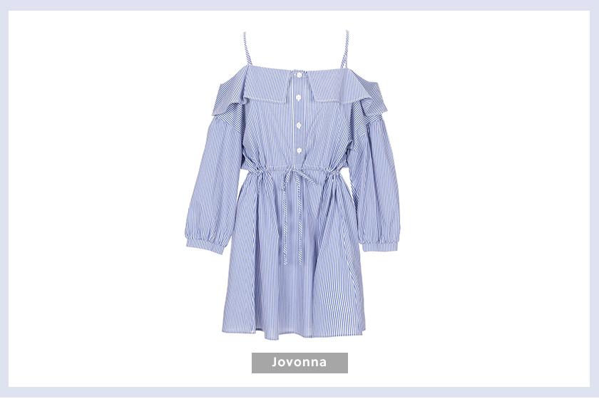 JOVONNA Short dress striped