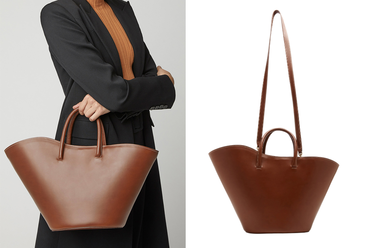 little liffner leather tote
