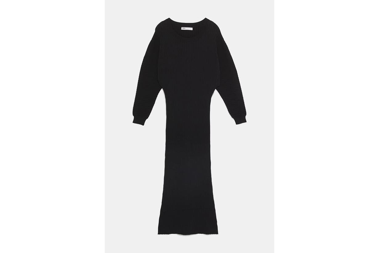 Zara Long Ribbed Dress