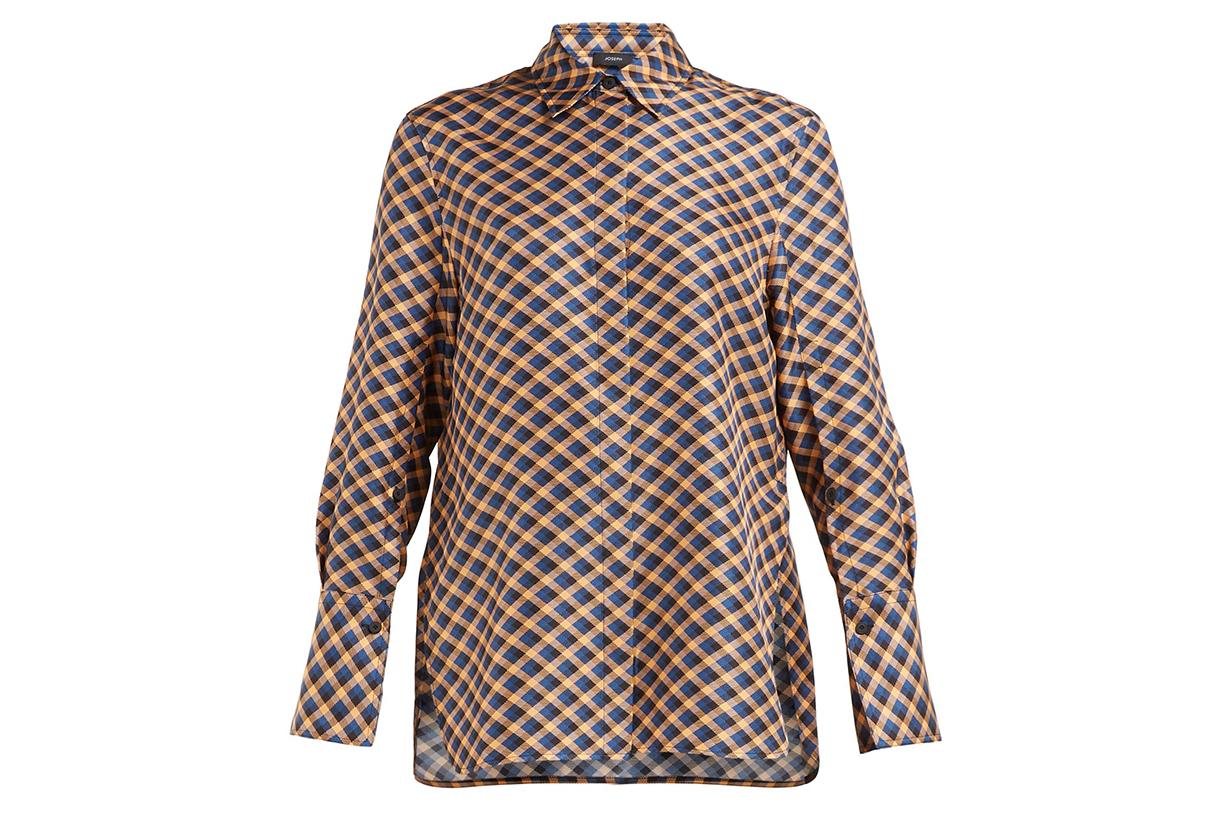 Mason diamond-print silk-satin shirt