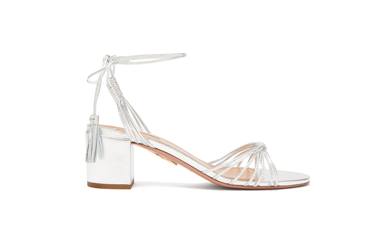 Aquazzura Mescal 50 Tasselled Leather Sandal
