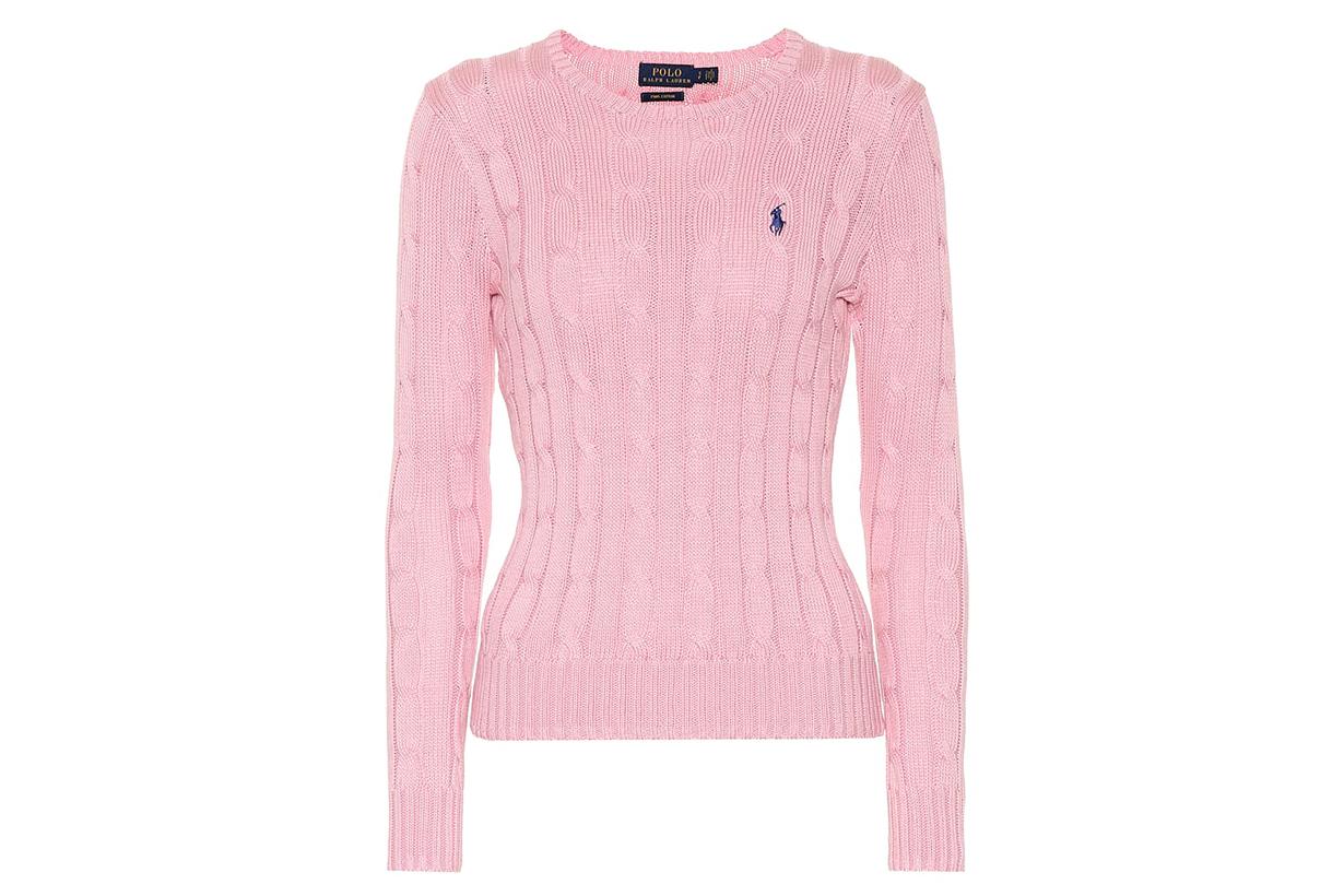 Pima cotton cable-knit sweater