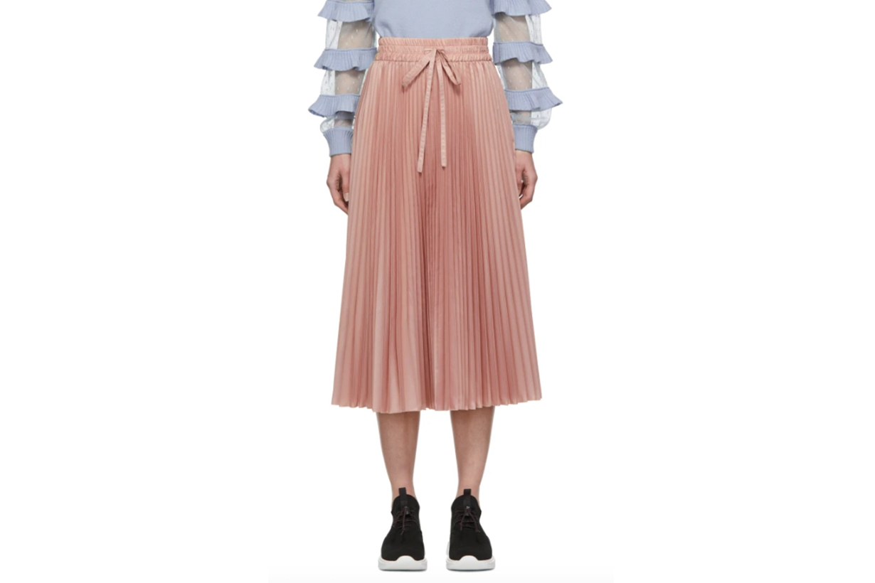 RED-Valentino-Pink-Pleated-Skirt