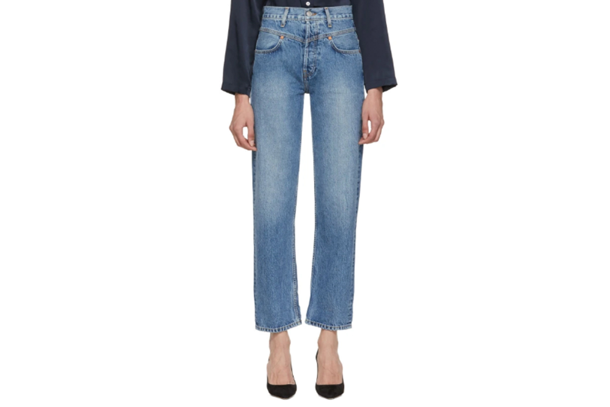 Re/Done Blue Originals Double Yoke Jeans