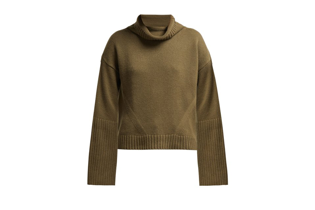 Nili Lotan Roll-Neck Ribbed Cashmere Sweater