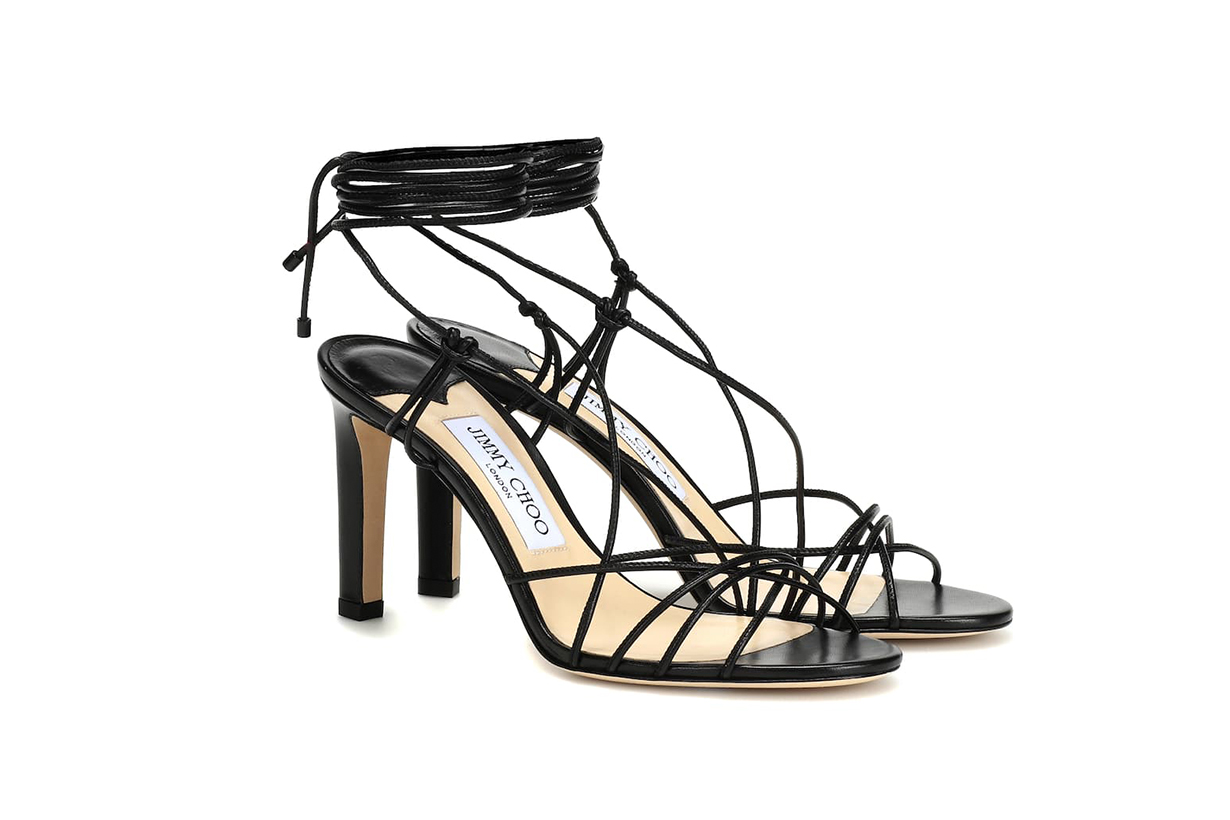 Jimmy Choo Tao 85 Leather Sandals