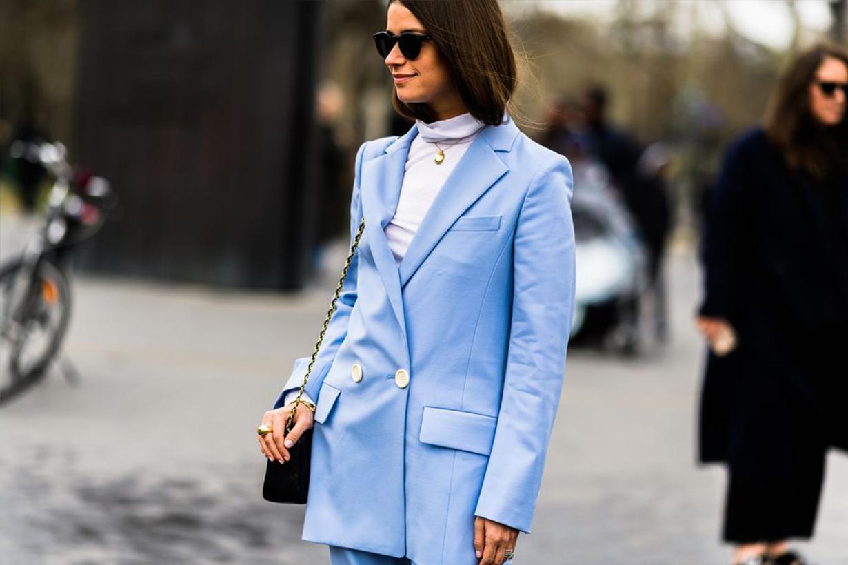 Blue Suit Street Style 2019