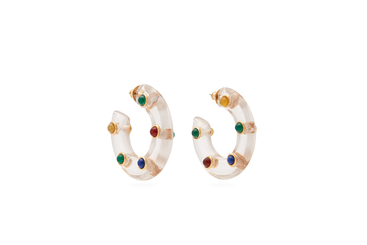 Wai Wai X Betina De Luca Perspex Hoop Earrings