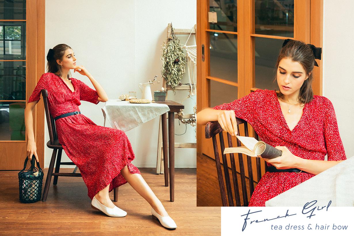 french GIRL SUMMER STYLDE GUIDE tea dress hair bow