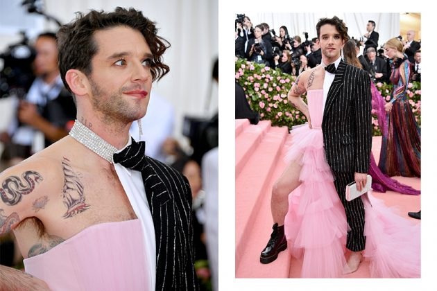 Michael Urie Christian Siriano Red Carpet Dress Suit Mix Style