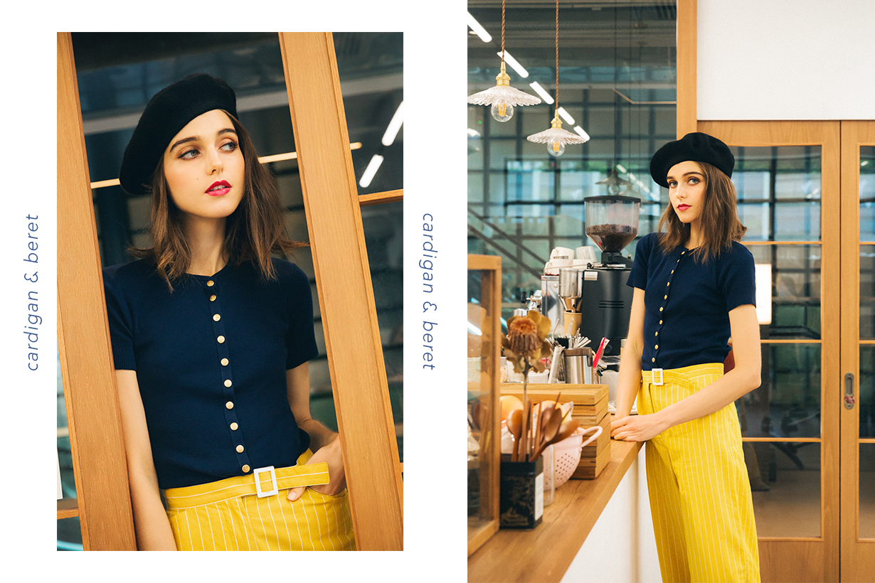 french GIRL SUMMER STYLDE GUIDE cardigan beret
