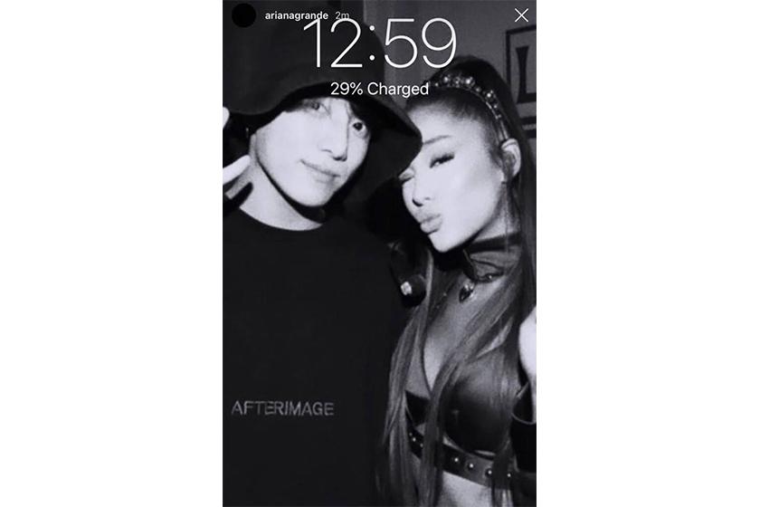 Ariana Grande BTS Jungkook fangirl Instagram