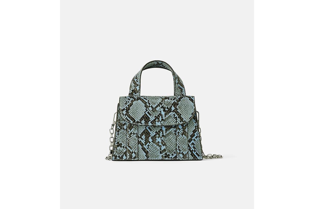 Blue Animal print Mini Bag