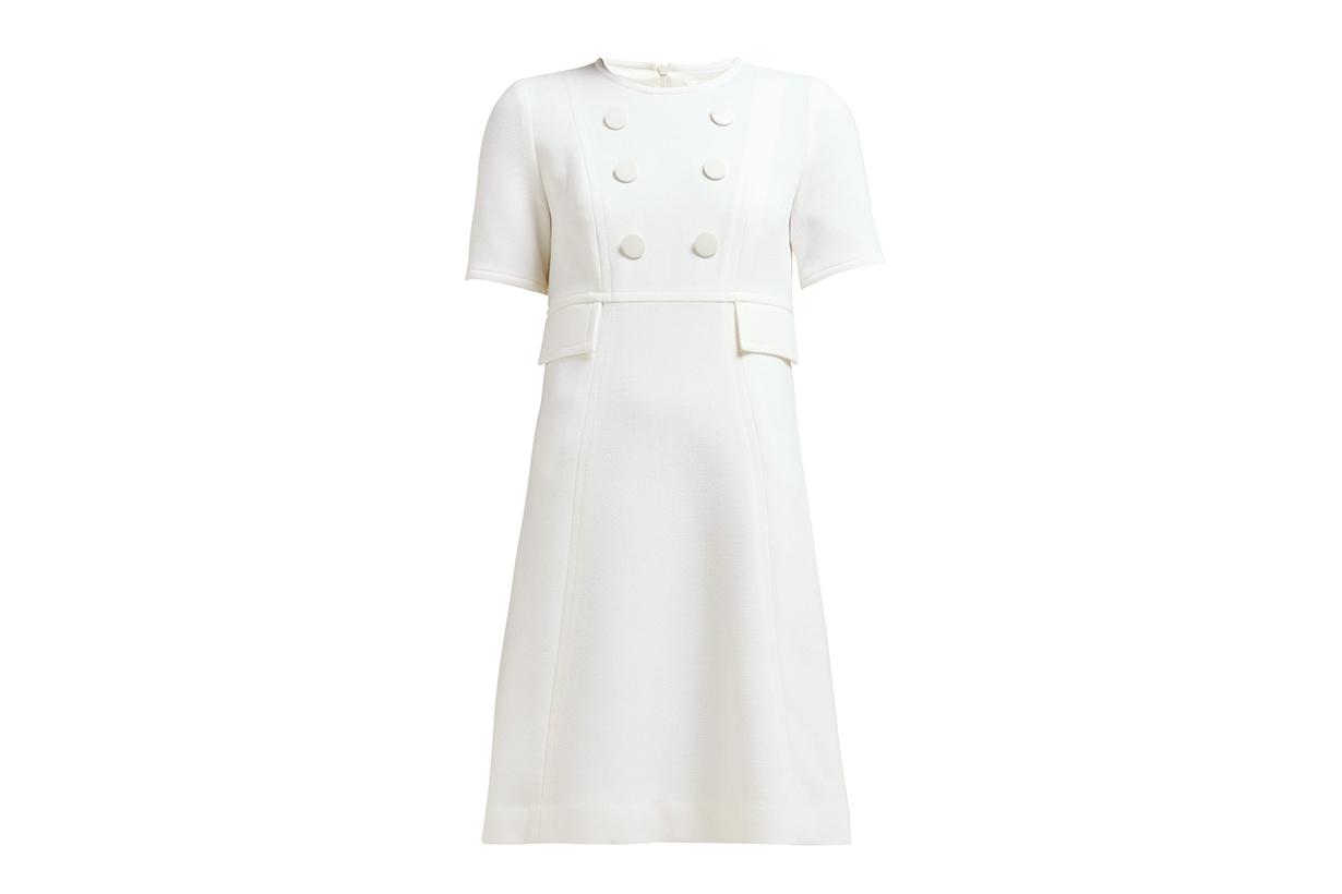 Brigitte Wool-Crepe Dress