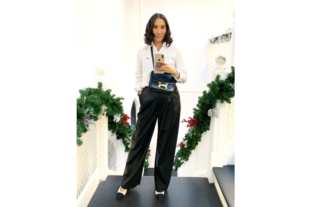 Eva Chen Chanel Pumps Hermes Bag