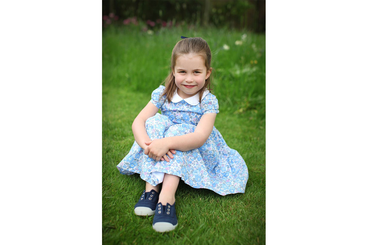 Princess Charlotte Birthday Blue Dress