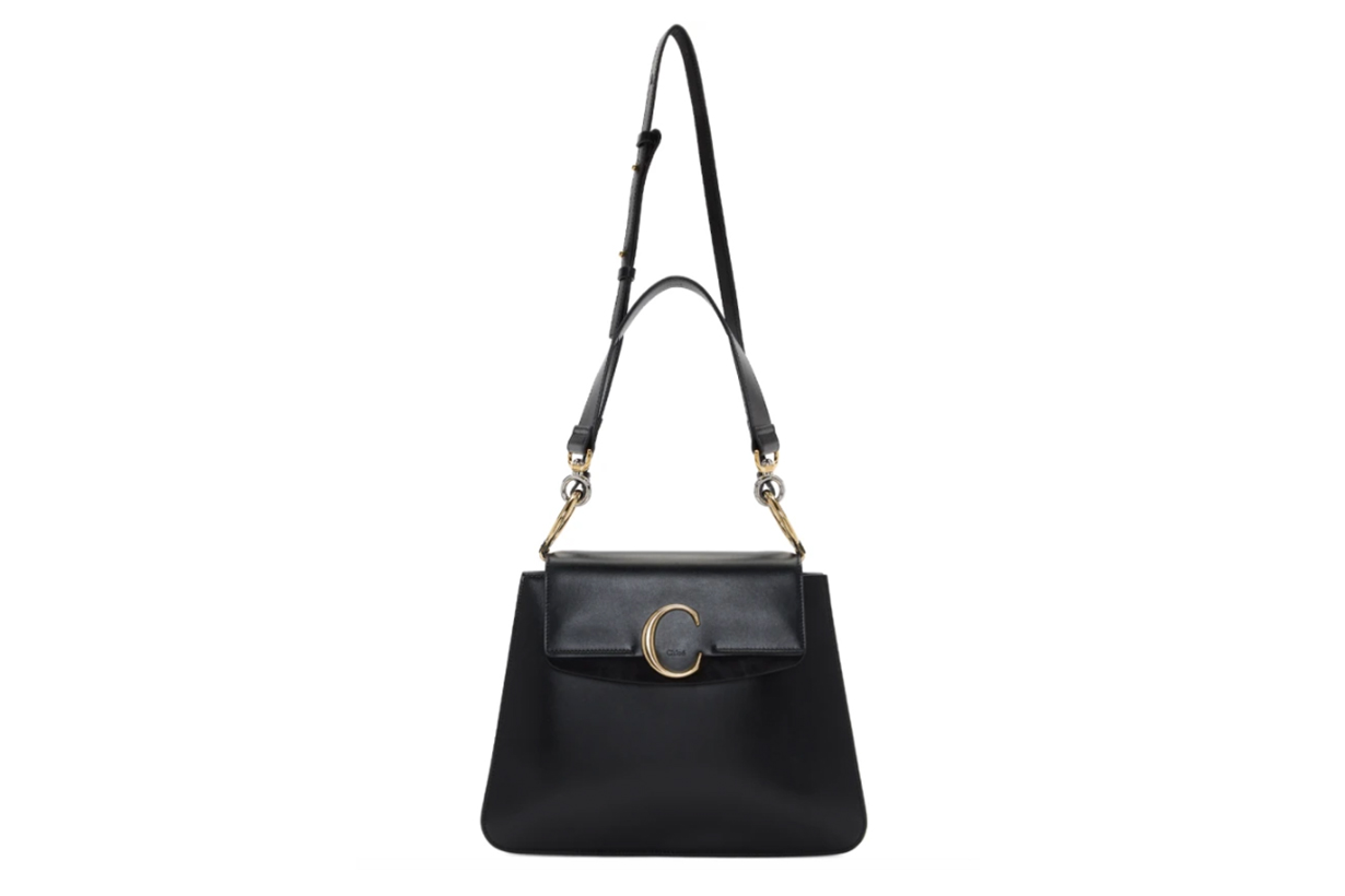 Chloé Black Medium 'Chloé C' Shoulder Bag