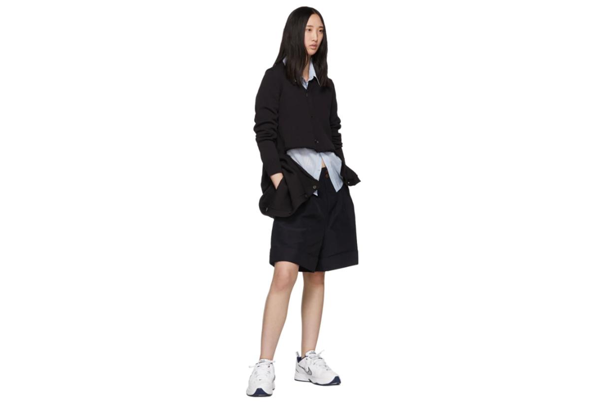 Comme des Garçons Navy Basket Weave Shorts