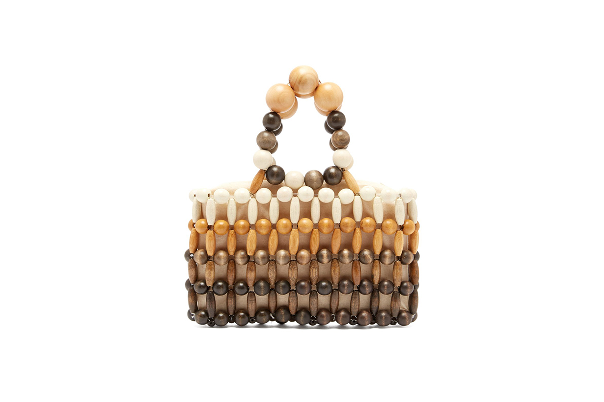 Cult Gaia Cora Wooden-Beaded Bag
