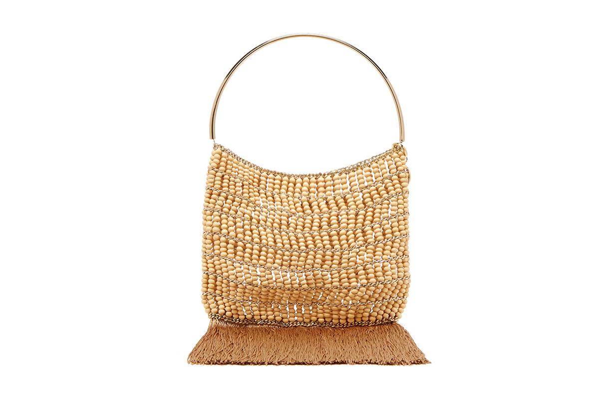 Rosantica By Michela Panero Georgina Beaded Fringe-Trimmed Bag