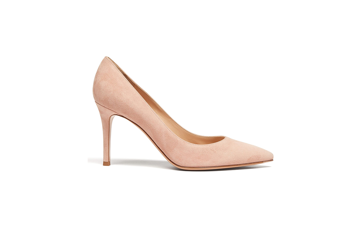 Gianvito 85 Point-Toe Suede Pumps