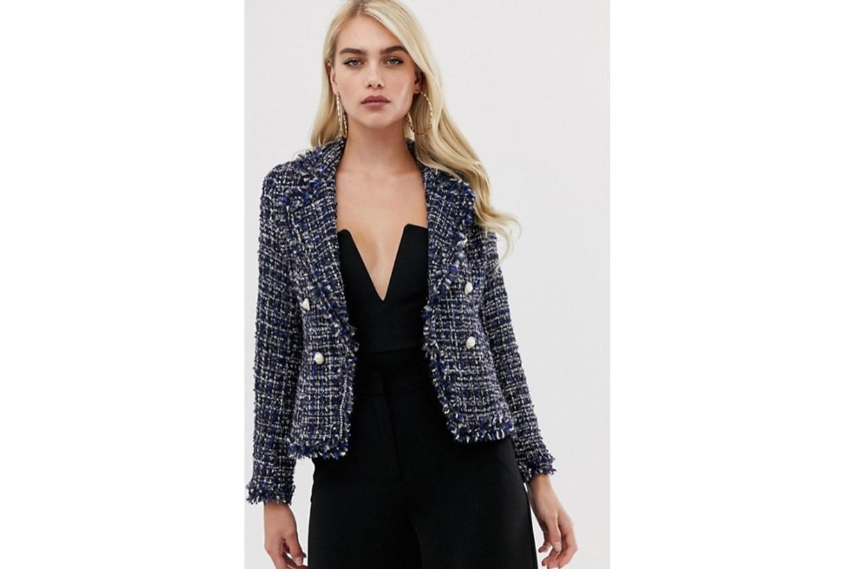 Girl In Mind Tweed Blazer