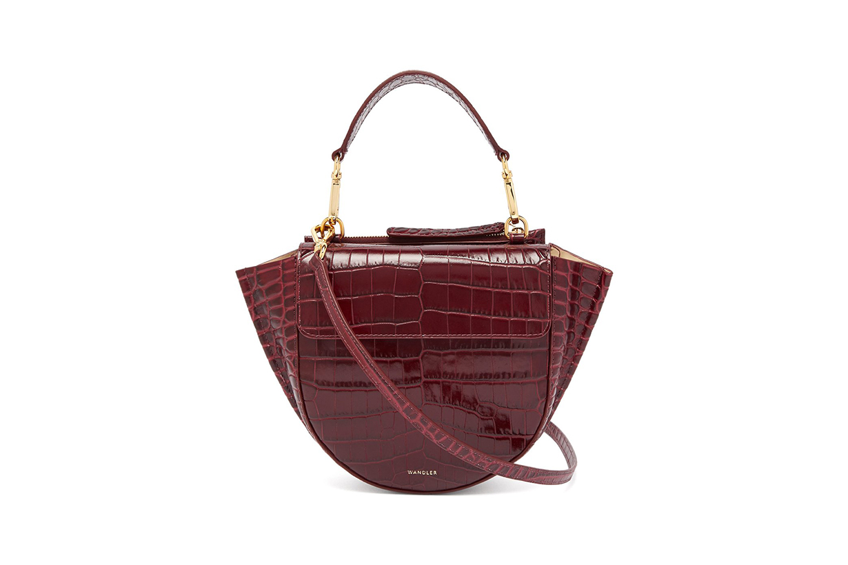 Wandler Hortensia Mini Crocodile-Effect Leather Bag